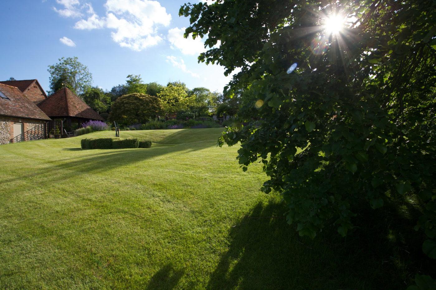 Jonathan Snow landscape and garden designer transformed a field into a beautiful garden in Buckinghamshire.